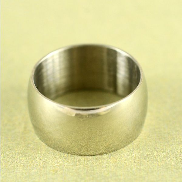 Wide Glossy Mirror Ring