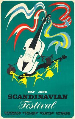 Thelander poster: May - June Scandinavian Festival
