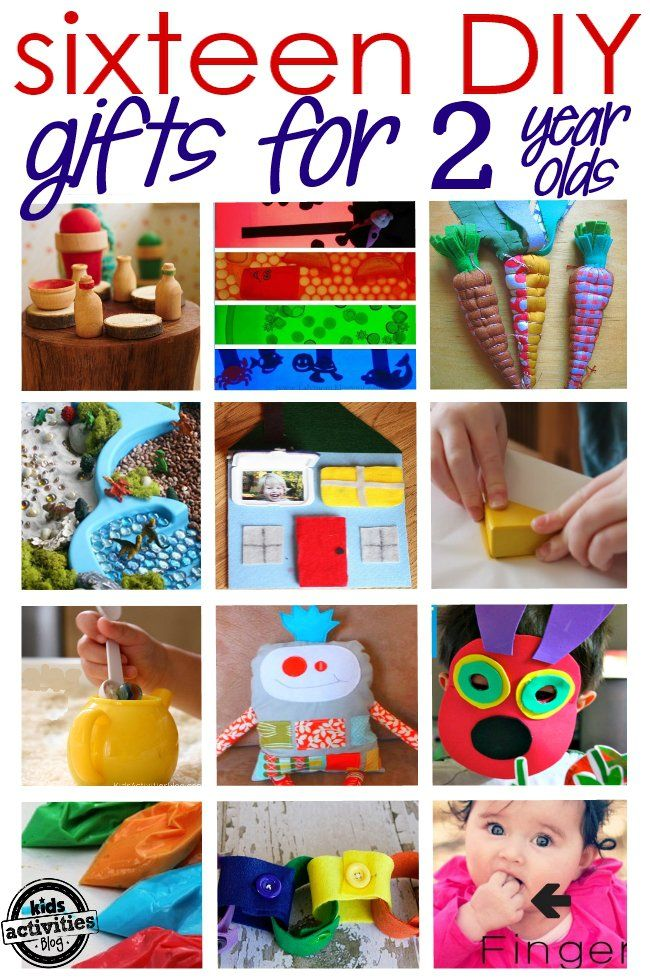 These 16 homemade gifts for a 2 year old will have toddlers playing and will save gift givers the horror of the holiday shopping rush.