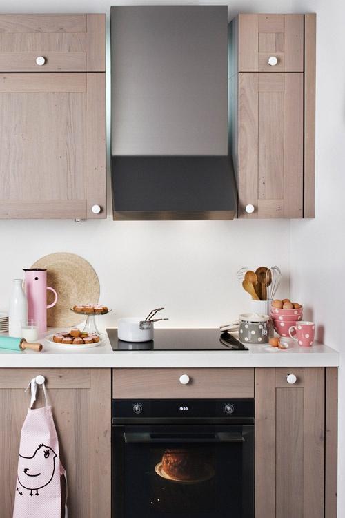 darty cuisine nos cuisines petite surface poignes en porcelaine les natures - Cuisine Petite Surface