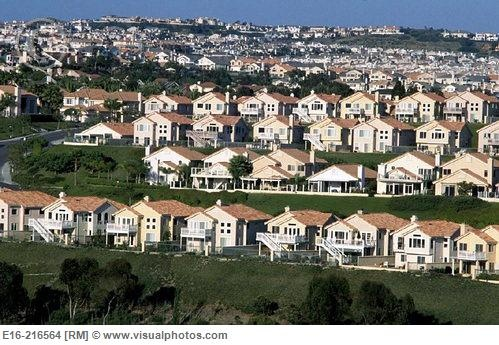 They all look the same don't they? These are newer houses. The