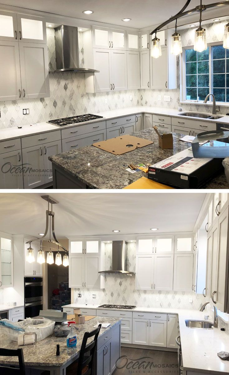 - In Love With This White Kitchen And The Chandelier Is To Die For