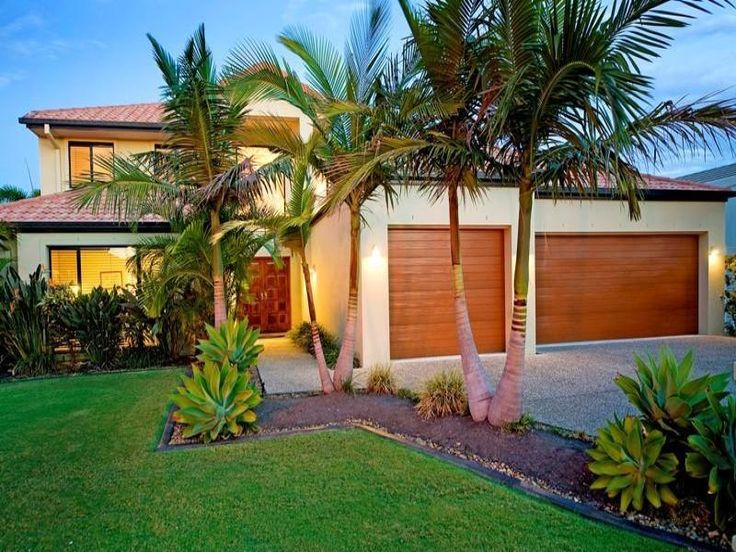 Love these small palm trees ideas for my garden for Garden bed ideas for front of house australia