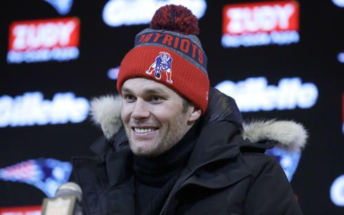 Patriots Quarterback Tom Brady addresses the media following New England's game against the New York Jets on Sunday, December 31, 2017.