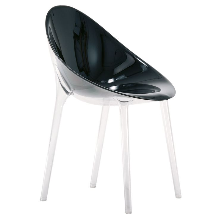 Kartell   Mr. Impossible Stuhl, Schwarz /transparent Schwarz T:54 H: