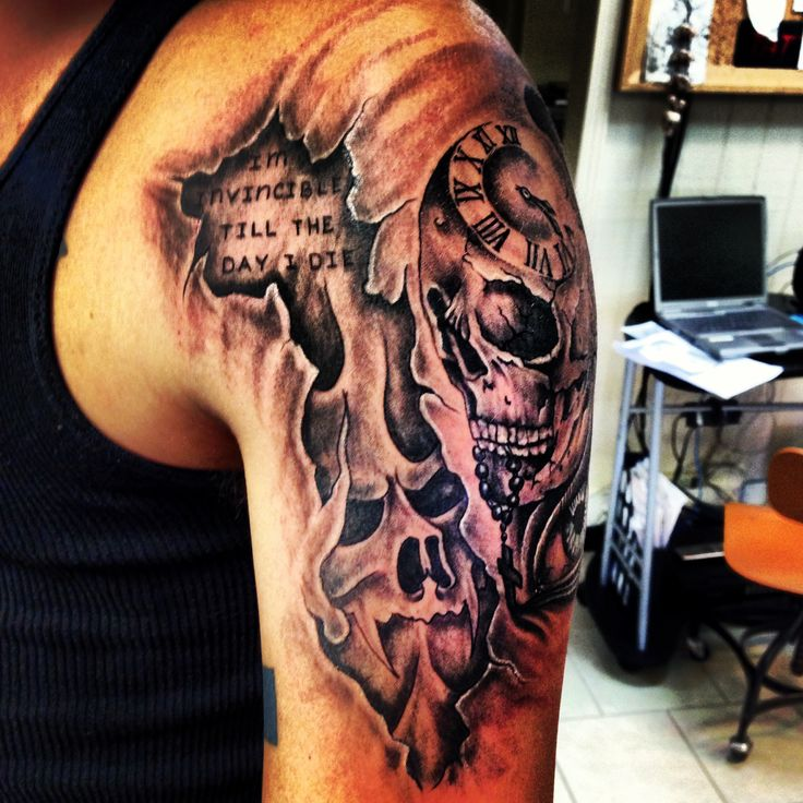 The start to my sleeve, theme based, hell on the left and ...