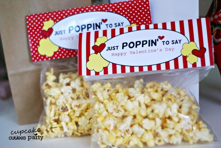 POPCORN love- Ziploc sandwich bag toppers DIY paper printable