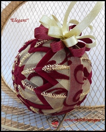 Christmas #Ornament #Quilted Ornament $20.00