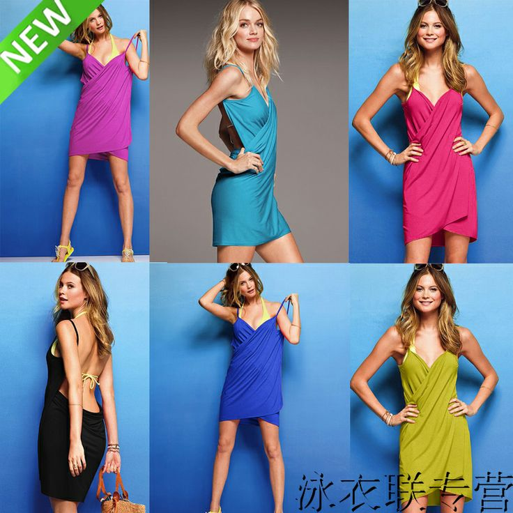 Чистая солнце глубоко V платье / пляж платье / пляж одежда / саронг мульти-ремень платье - Taobao