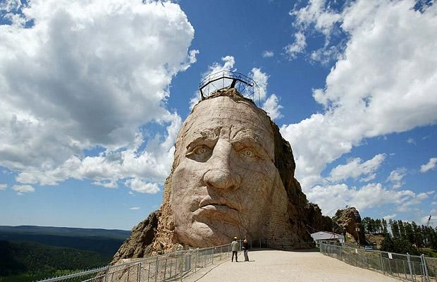 Huge stone faces: monumental sculptures carved into mountains - Telegraph