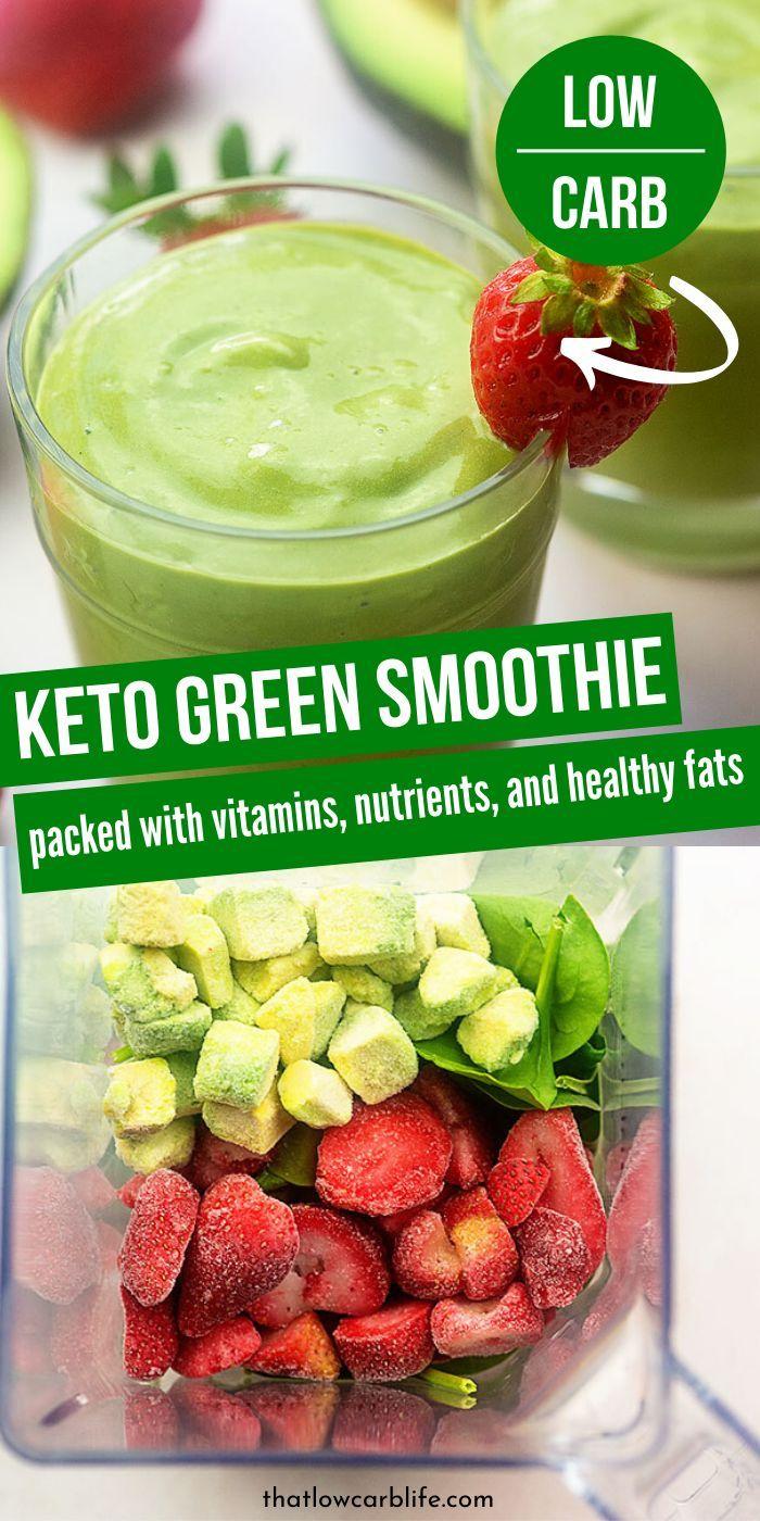 Keto Green Smoothie Recipe Smoothie Recipes Healthy Keto Breakfast Smoothie Green Smoothie Recipes