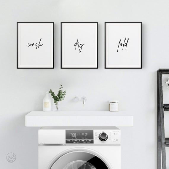 Laundry Room Set Of 3 Prints Laundry Print Printable Art