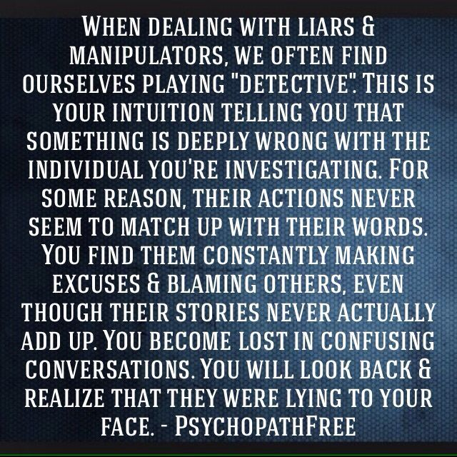 Narcissist's are pathological liars. They will lie all the time to get what they want and to hide their evil deeds, so no one will catch them on the act.