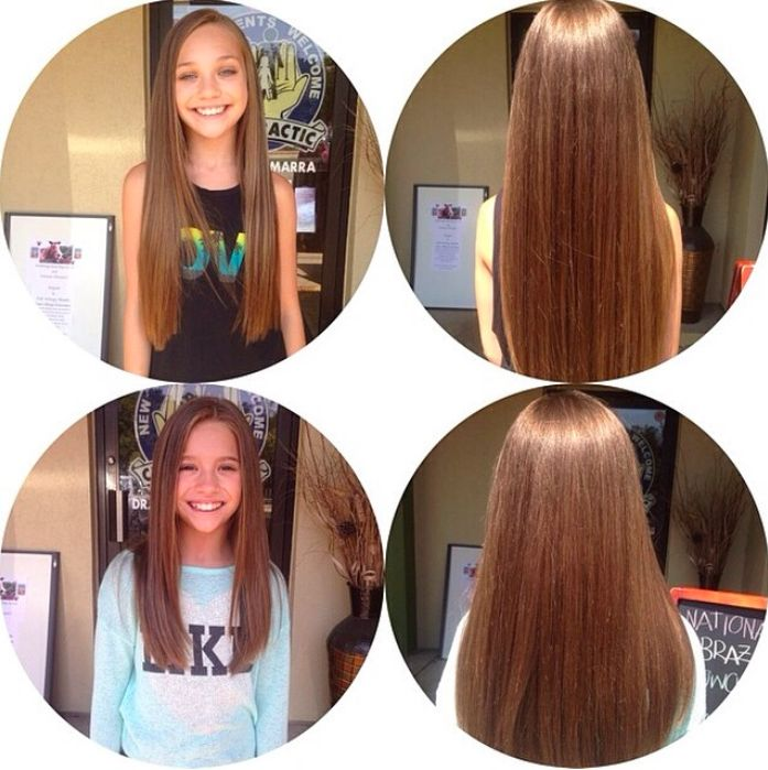 Look at their beautiful hair! Maddie and Mackenzie Ziegler<3