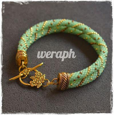 Perles tudzież: Designs cordons crochet-koralikowych