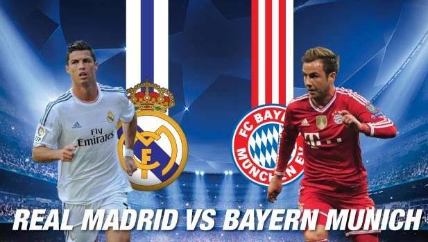 Real Madrid vs Bayern Munich 29-4-2014 heure et chaîne de diffusion en direct