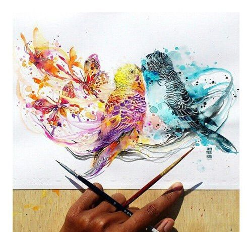 Image via We Heart It https://weheartit.com/entry/160430279 #animal #art #bird #colors #draw #drawing #oiseaux