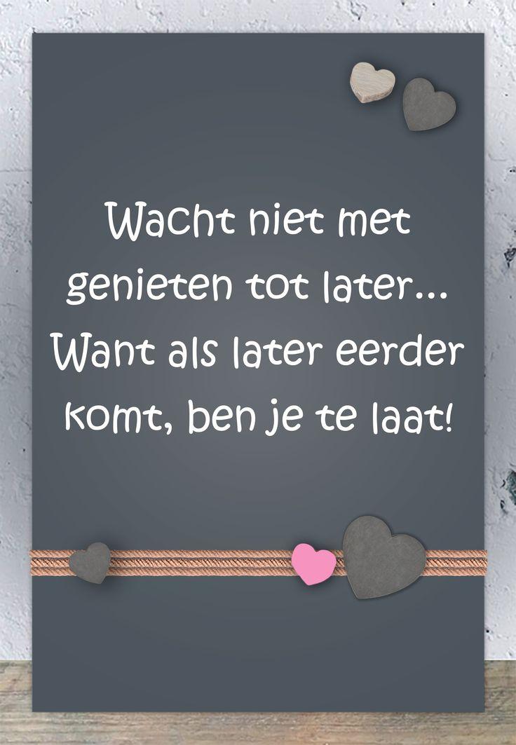 Tegeltjeswijsheid.nl - een uniek presentje - Spreukbord Wacht niet