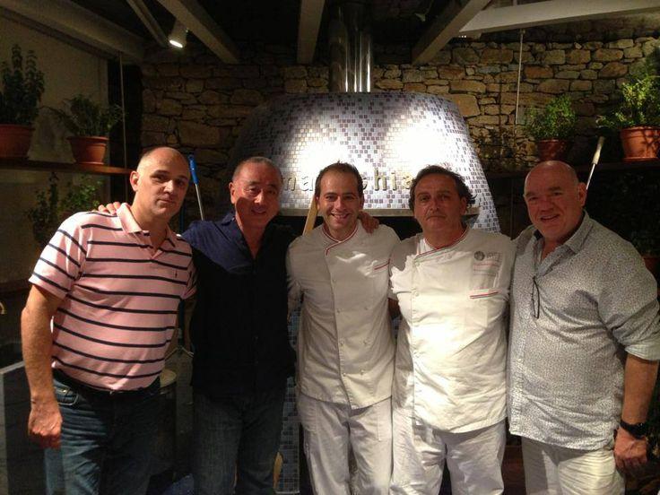 Chef Nobu San and his team at Marechiaro Mykonos
