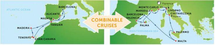 Krydstogt guide – Destinationer – Eventyrrejser - oplev mere i Middelhavet ved at kombinere to krydstogter