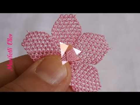 İğne Oyası Namaz Örtüsü Çiçeği Yapılışı - YouTube
