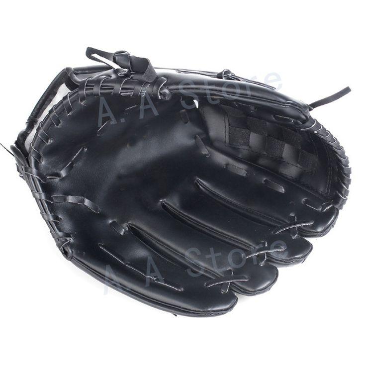 Anyfashion Baseball Gloves New Portable Dark Brown Durable Men Softball Baseball Glove Sports Player Preferred 11.5 inch