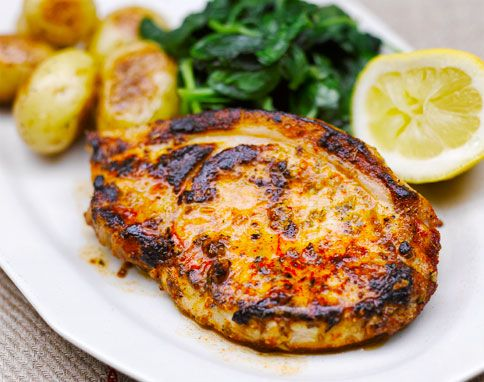 Pork with mustard, paprika & oregano by Jamie Oliver