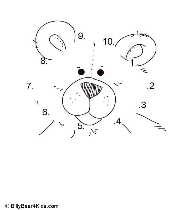 85e76426dea8af88f5a779522b3aefe1--connect-the-dots-math-worksheets Teddy Bear Letter B Template on applique pattern, baby shower, anatomical heart, paper bag puppet, full body, sleeping baby,
