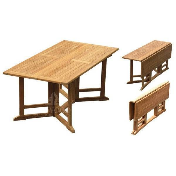 Teak Rectangular Gateleg Garden Folding Dining Table Dining Table Wooden Dining Tables Teak Table