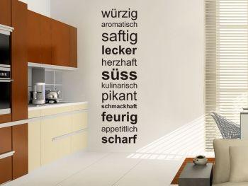 Wandtattoo Geschmack als Raumakzent im Küchenbereich