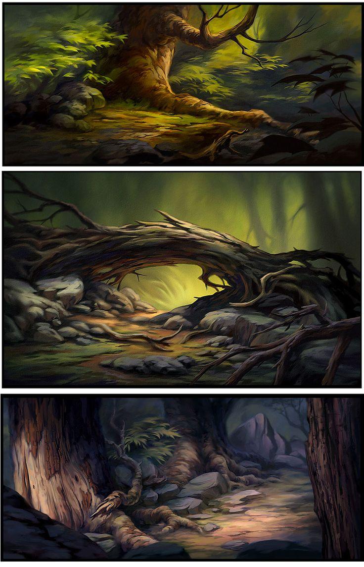O tronco da segunda é ótimo para a parte da floresta                                                                                                                                                      Mais
