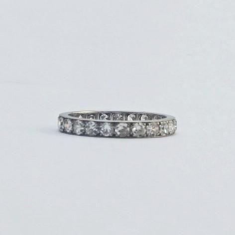 Vintage Full Set Diamond Eternity Ring