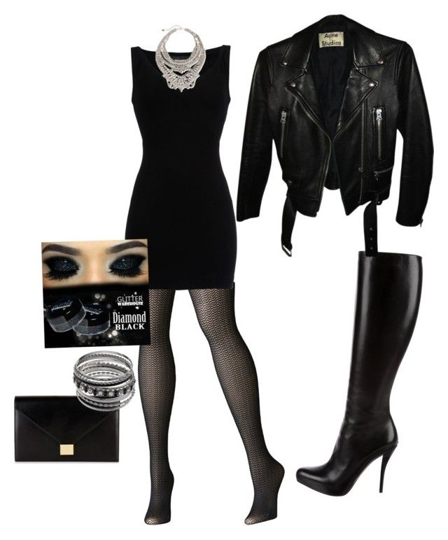 """""""Weekend getaway to the big city, edgy"""" by mandy-curtis on Polyvore featuring Christian Dior, Avenue, Dsquared2, Acne Studios, Victoria Beckham and DYLANLEX"""