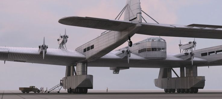 Kalinin K-7 was a real plane which made the first flight in 1933. As most of it's photographs are of poor quality, there are lots of modern fantasy pictures inspired by this huge plane.
