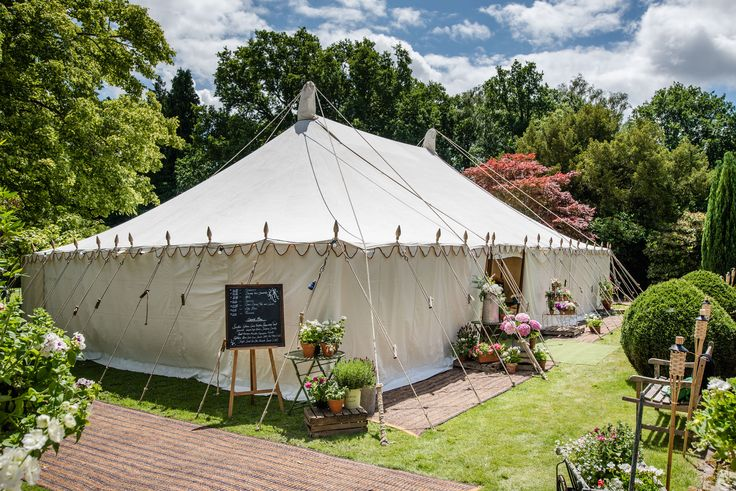 One of our 40' x 60' Traditional Canvas Pole Tents