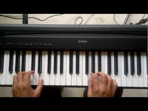 piano lesson--teaches how to use two hands, and the C Major chord