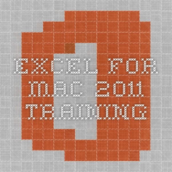 excel instructions for mac