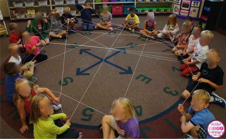 """We make a """"friendship web"""" and say something nice about the person they want to throw the yarn to."""