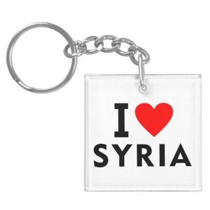 #I love Syria country like heart travel tourism Keychain - #country gifts style diy gift ideas