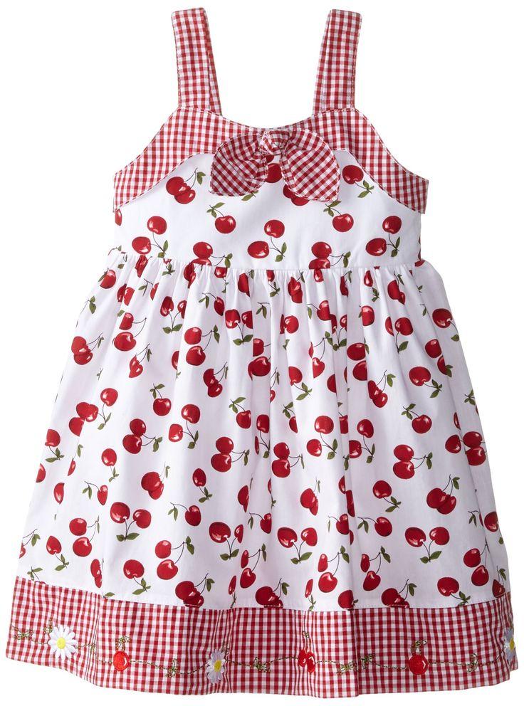Amazon.com: Blueberi Boulevard Little Girls' Gingham Bow Front Dress, Red, 3T: Clothing