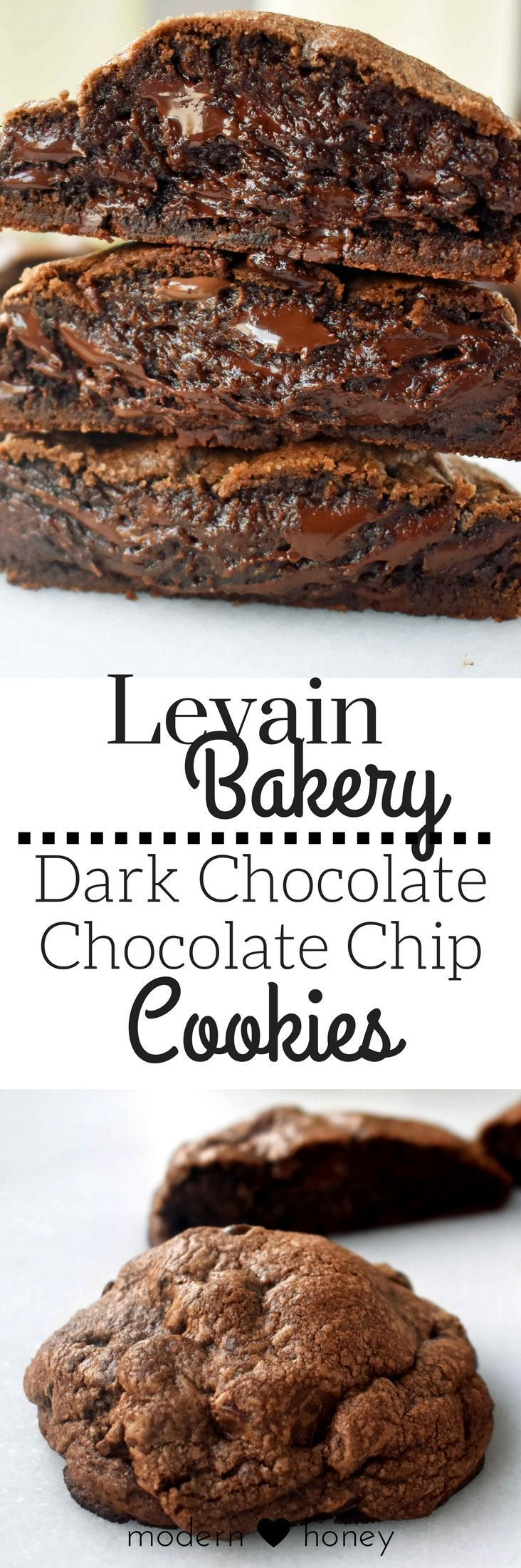 Levain Bakery Dark Chocolate Chocolate Chip Cookies are the ultimate copycat Levain Bakery cookie recipe. 5 Star Rating for a reason. http://www.modernhoney.com