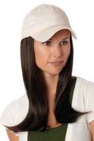 Baseball Hat with Hair: 8229 Long Hat Beige