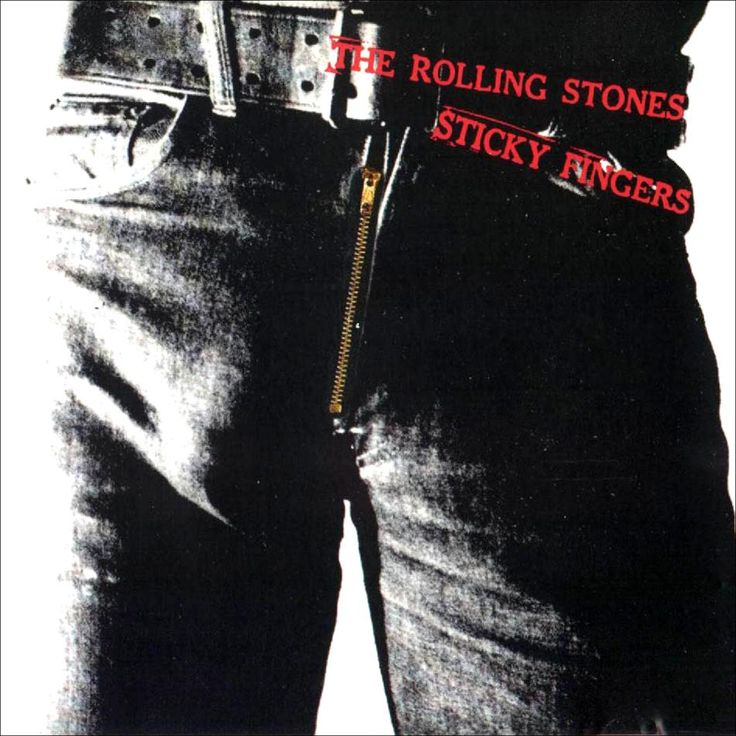 The Rolling Stones - the first album the stones released on their own label - Sticky Fingers