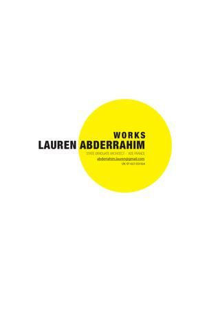 Cover design: LAUREN ABDERRAHIM PORTFOLIO ARCHITECTURE 2013