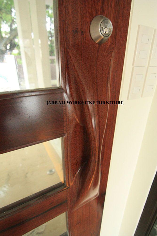Ipil and Glass Panel Door Handle