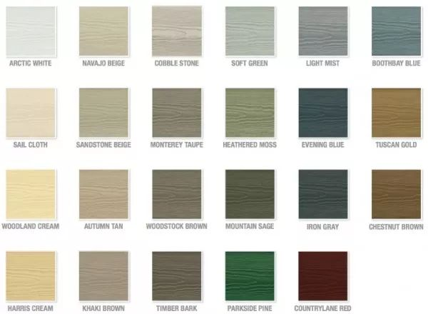 Hardie Color Chart                                                                                                                                                      More