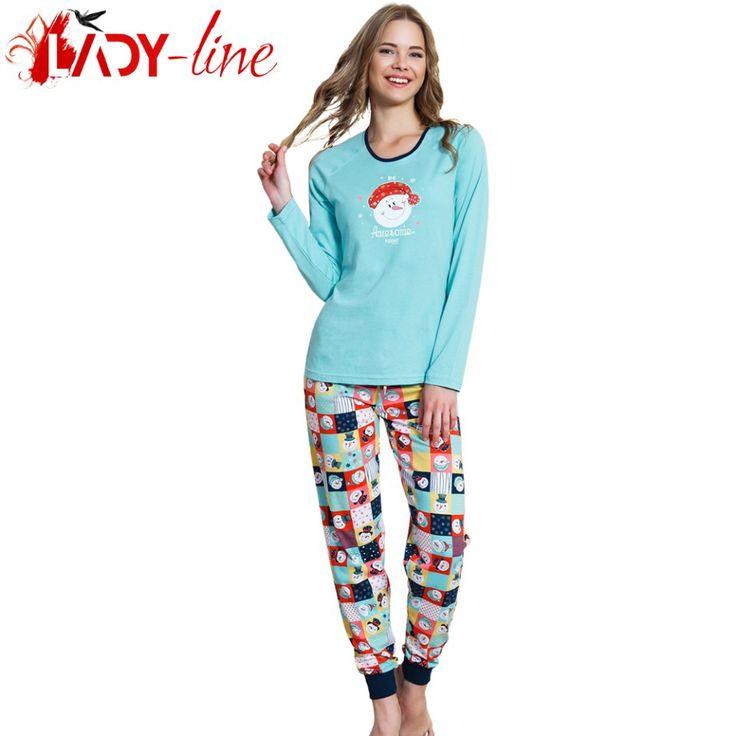 Poze Pijamale Dama Bumbac 100%, 'Awsome Today' Blue, Vienetta Secret