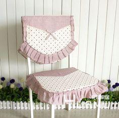 Home tecido almofada macia capa de cadeira rústico pequeno 100% algodão patchwork laciness pequena rosa