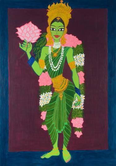"Saatchi Art Artist elise collet soravito; Painting, ""meenakshi"" #art"