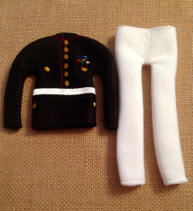 """Elf Marines Sweater and Pants Set for your favorite Elf or 12"""" Doll by LoveOnANeedle on Etsy"""
